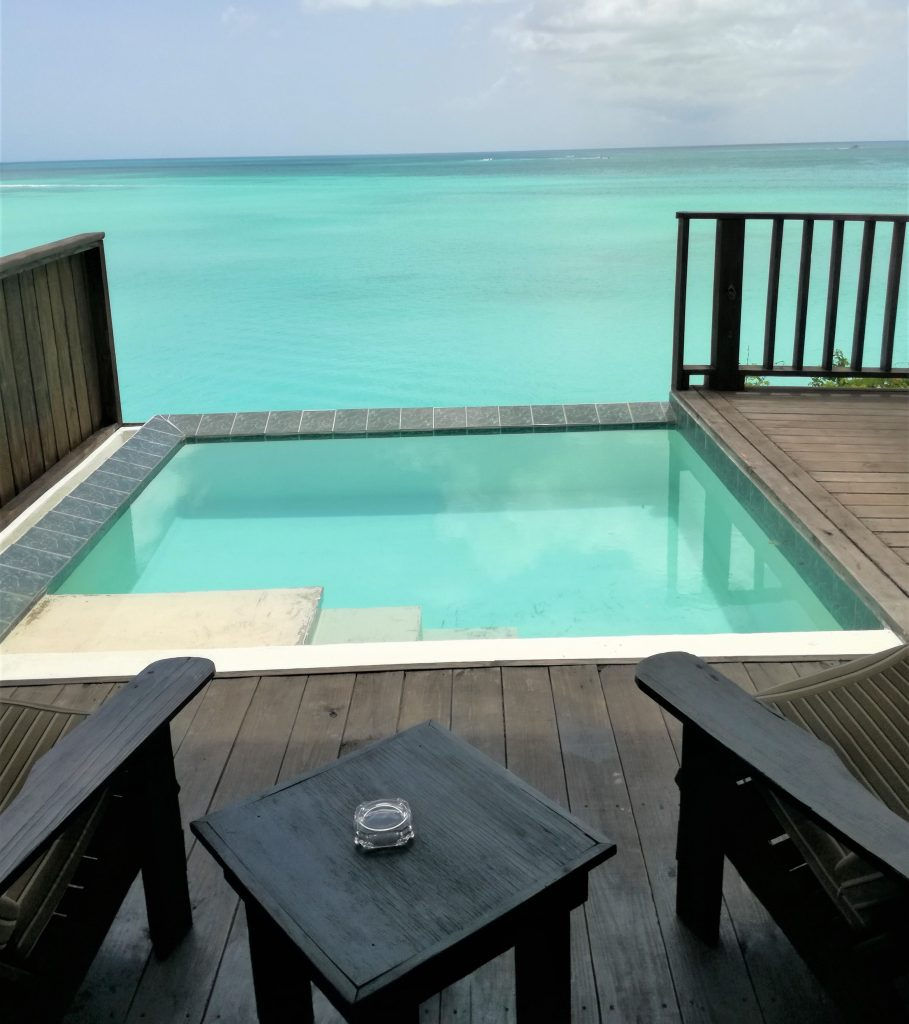View from the Sunset Pool Cottage at Cocos hotel