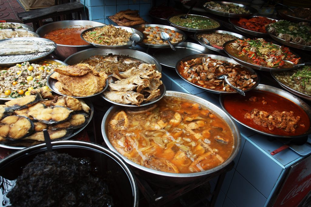 assortment of asian dishes