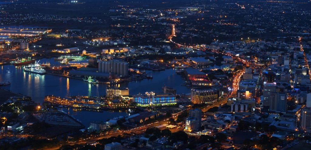 Port-Louis capital of Mauritius at night - Porlwi - Porlwibynight